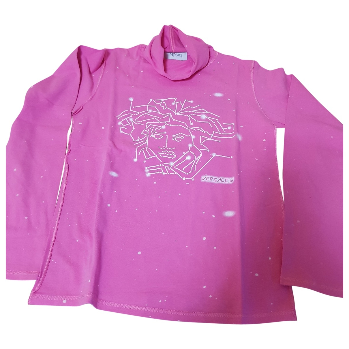 Versace \N Pink Cotton  top for Women 38 FR