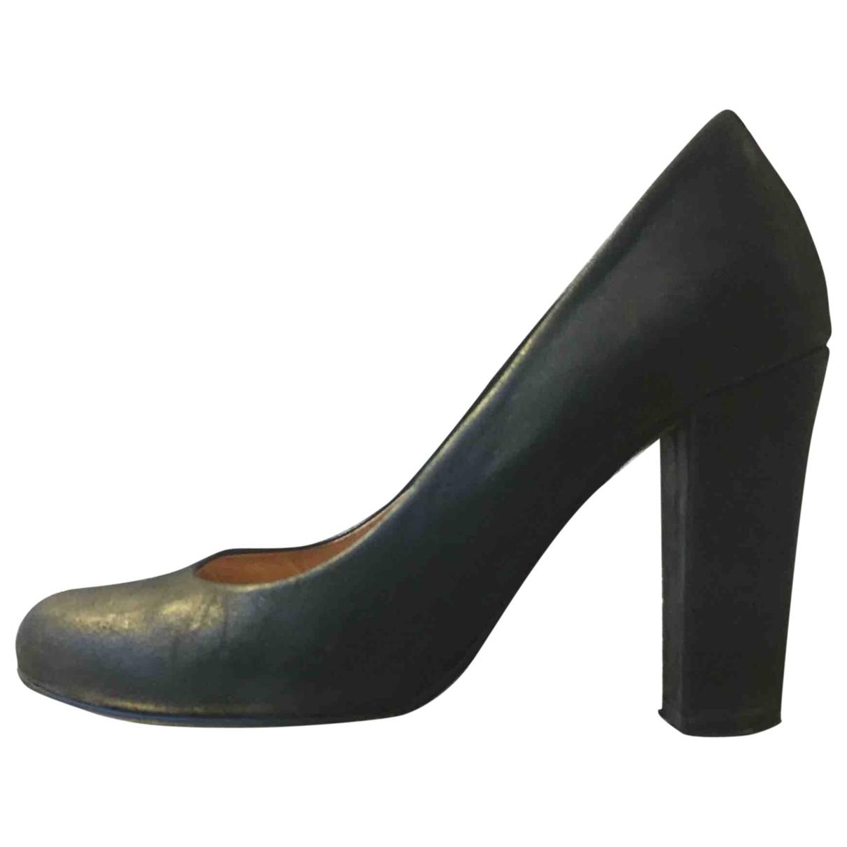 Ganni - Escarpins   pour femme en cuir - noir