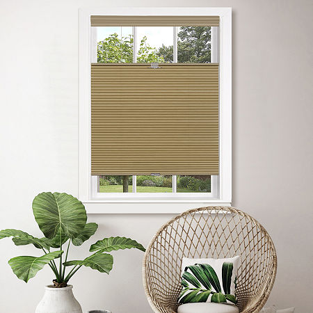 Top-Down Bottom-Up Cordless Honeycomb Shade, One Size , Beige