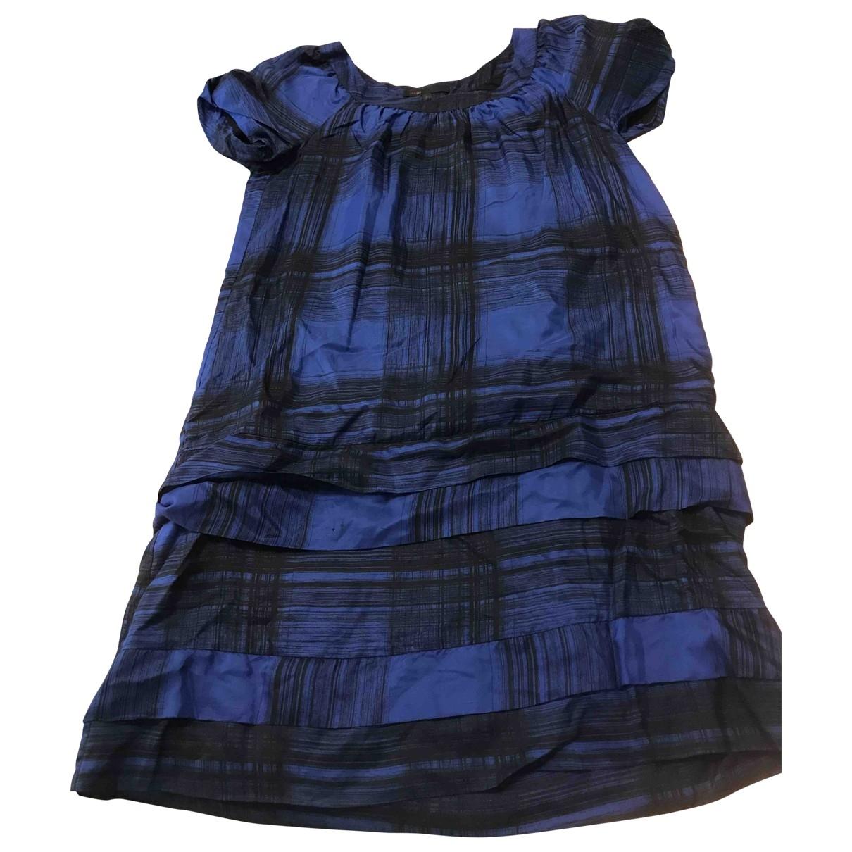 Maje \N Blue Silk dress for Women 36 FR