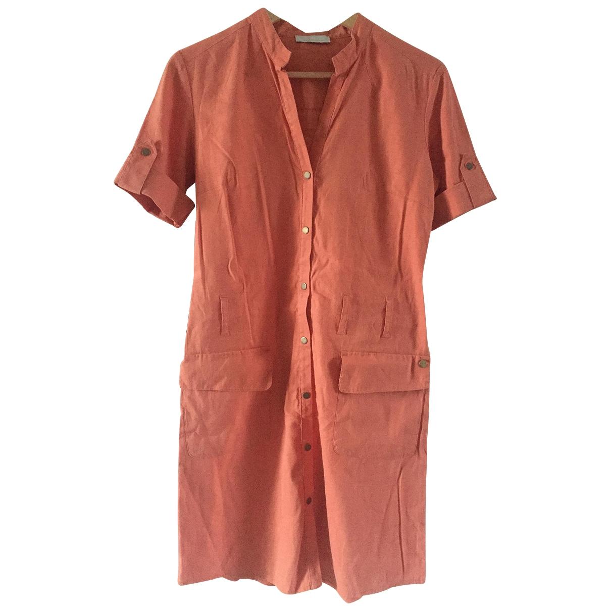 Ikks \N Orange Linen dress for Women 36 FR