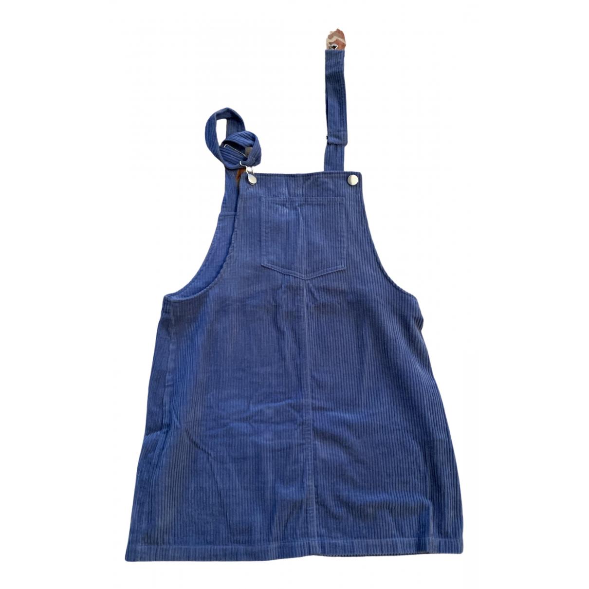 Mango N Blue Cotton jumpsuit for Women M International