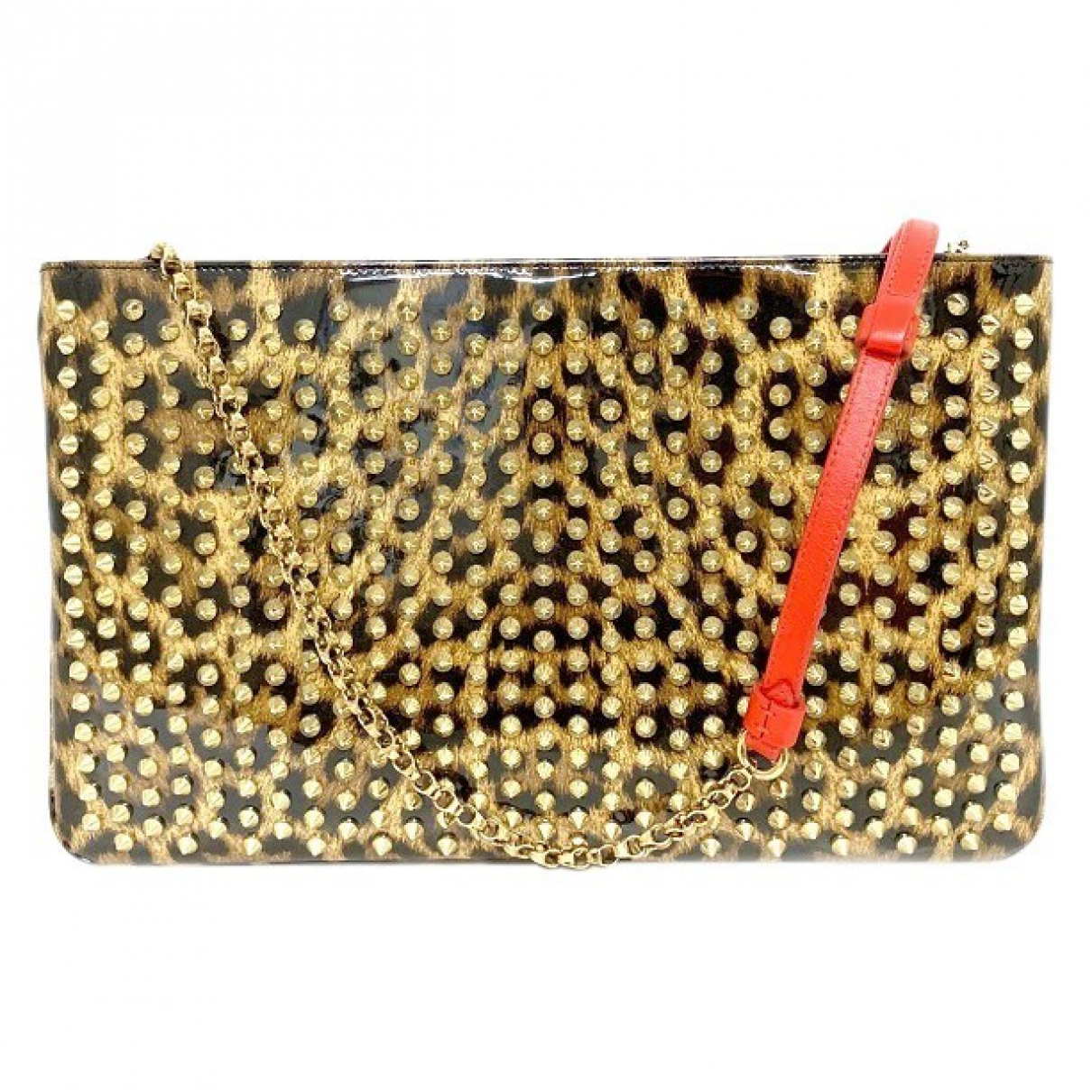 Christian Louboutin Loubiposh Clutch in  Gold Synthetik
