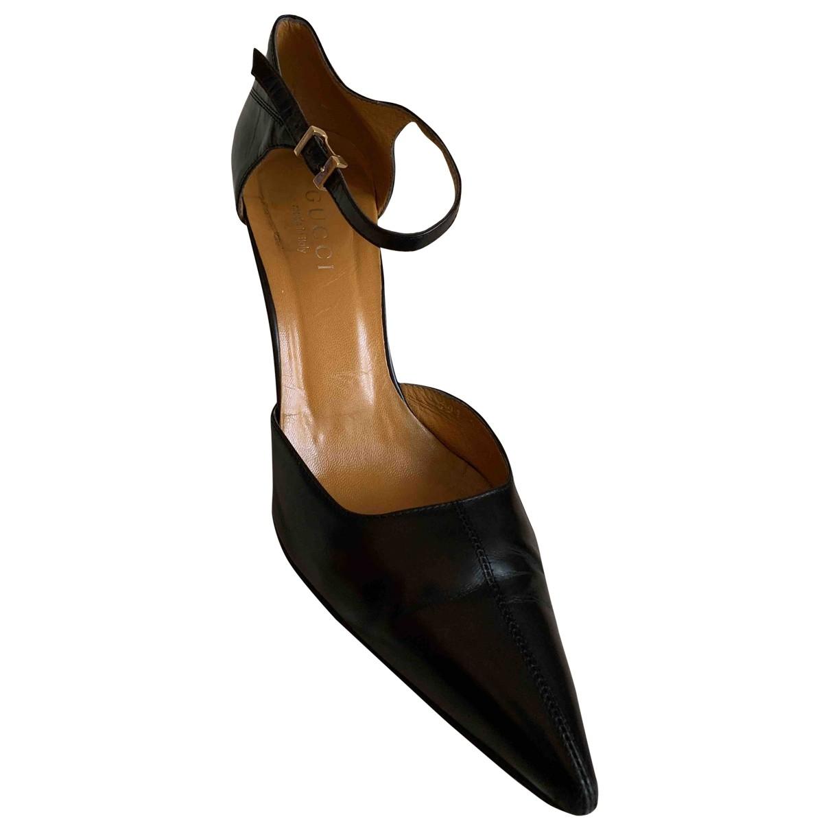 Gucci \N Black Leather Heels for Women 40 EU