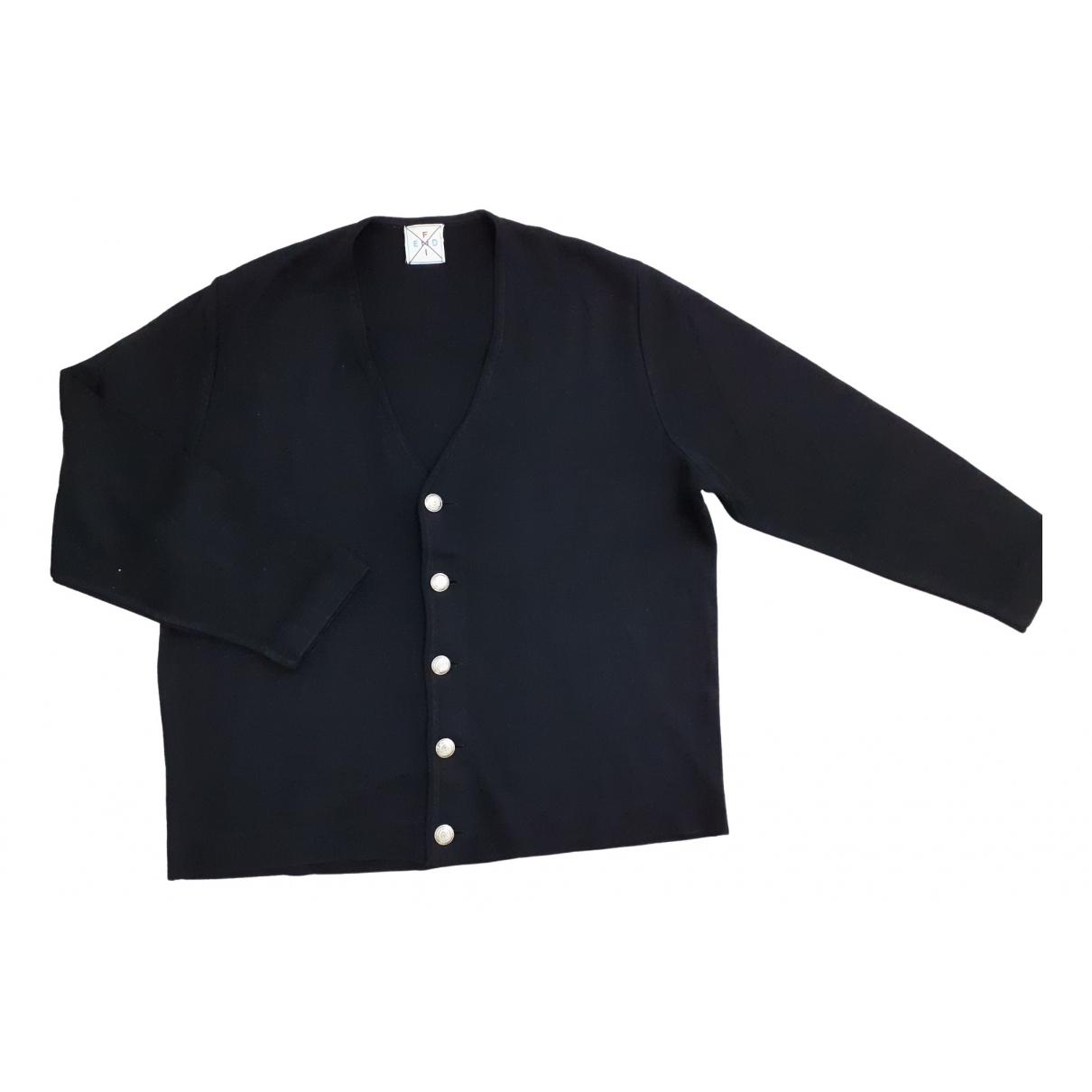 Fendi - Pull   pour femme en laine - noir