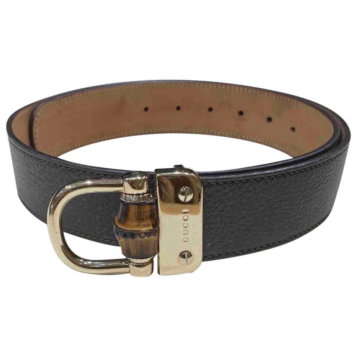 Gucci \N Grey Leather belt for Women 95 cm