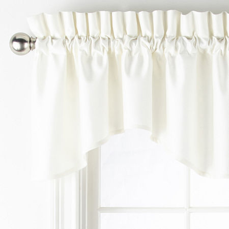 JCPenney Home Supreme Rod-Pocket Scallop Valance, One Size , White