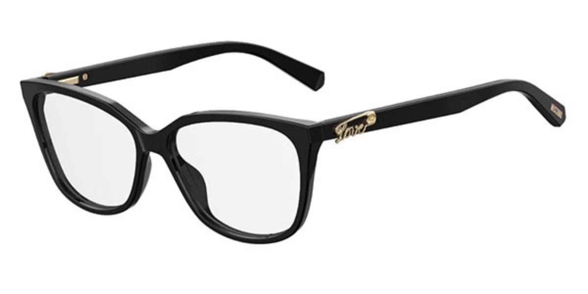 Moschino Love MOL513 807 Women's Glasses Black Size 55 - Free Lenses - HSA/FSA Insurance - Blue Light Block Available