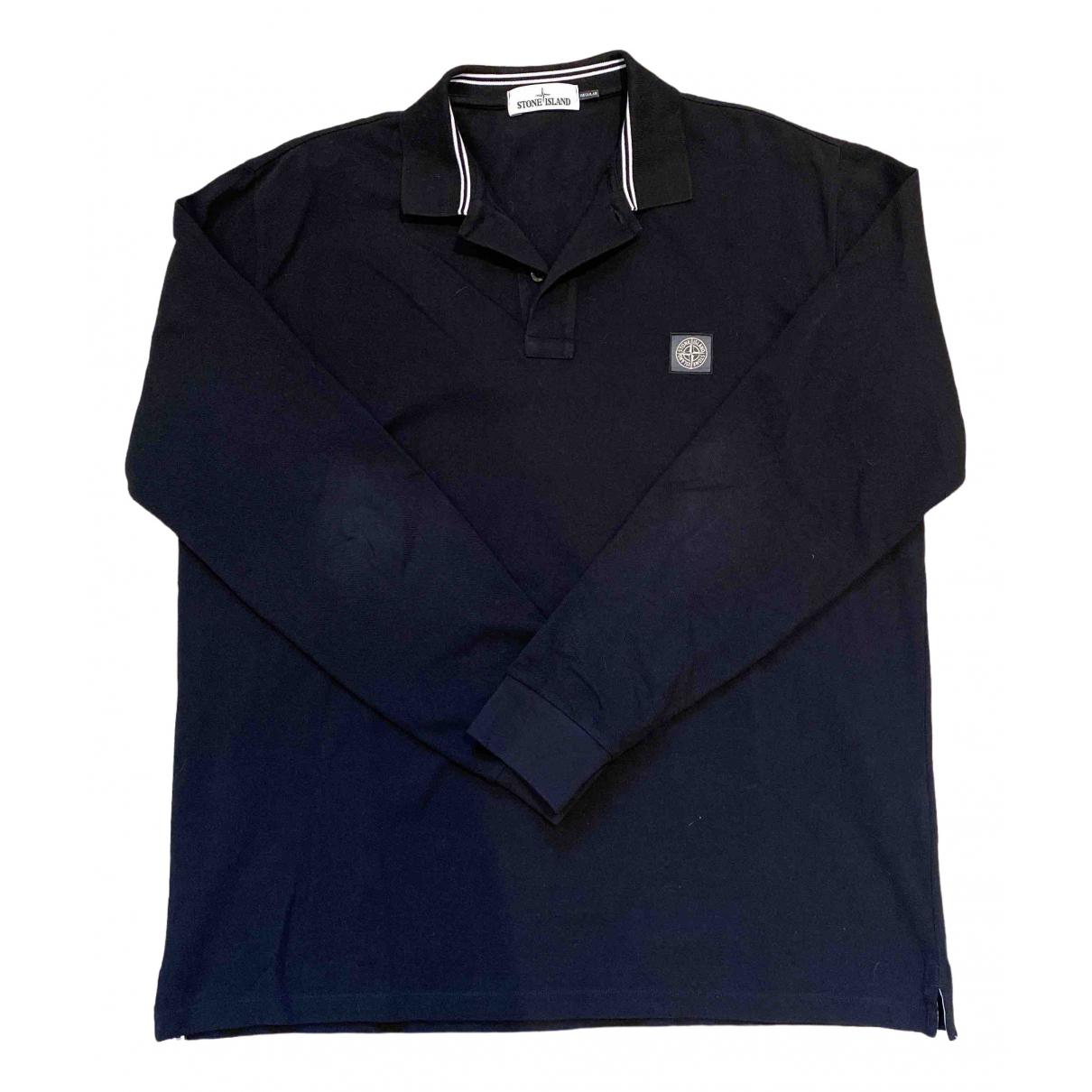 Stone Island \N Black Cotton Polo shirts for Men XXXL International