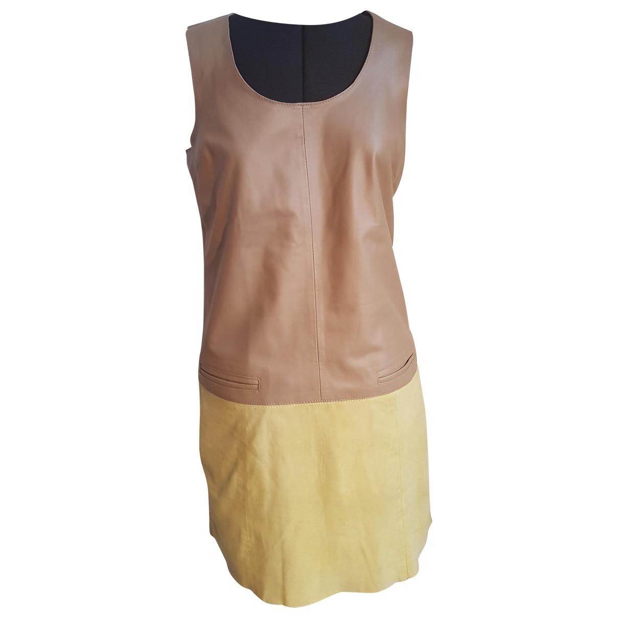 Oakwood \N Kleid in  Beige Leder