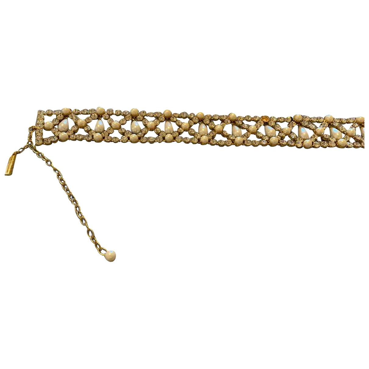 Dolce & Gabbana N White Pearls belt for Women 75 cm