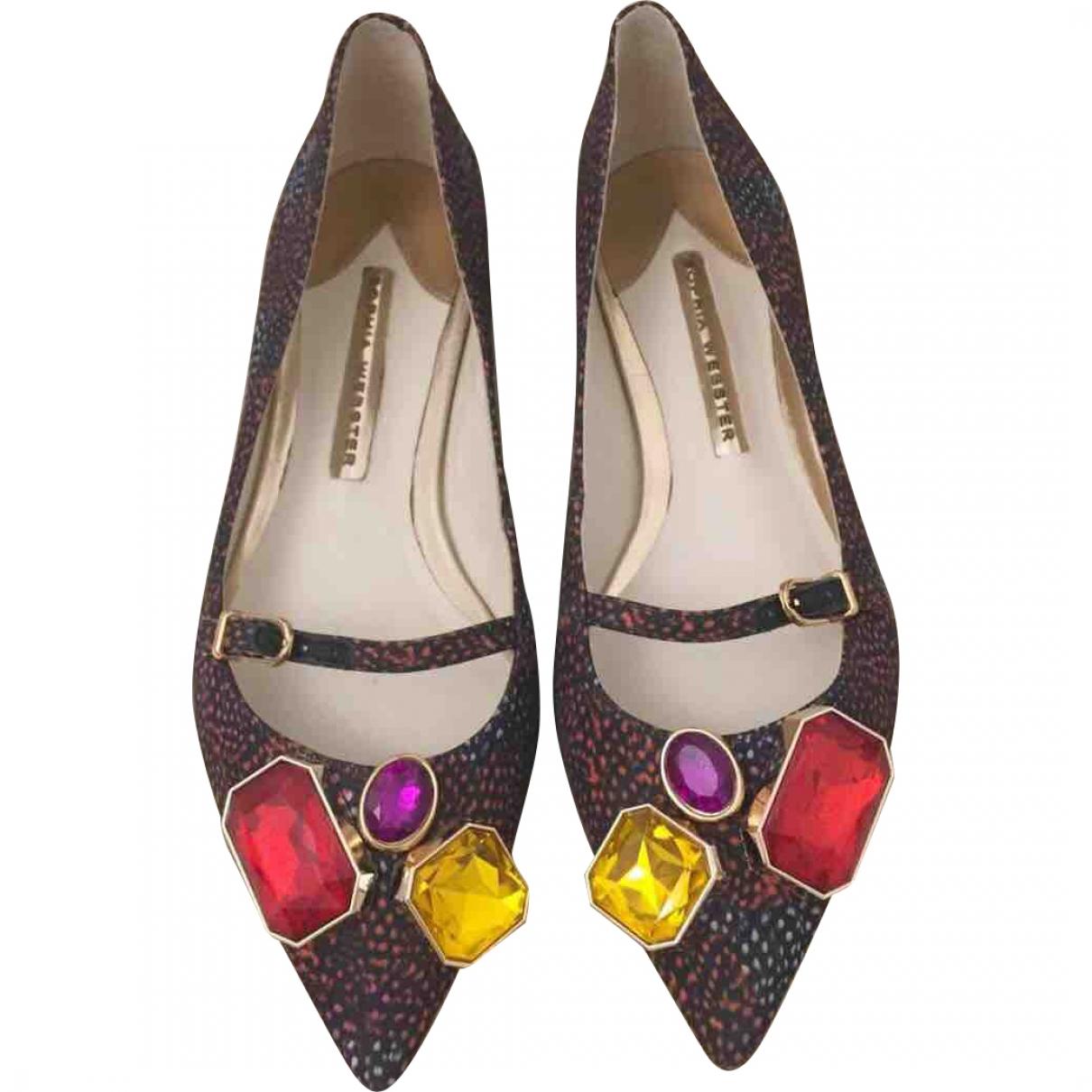 Sophia Webster \N Multicolour Leather Ballet flats for Women 37 EU