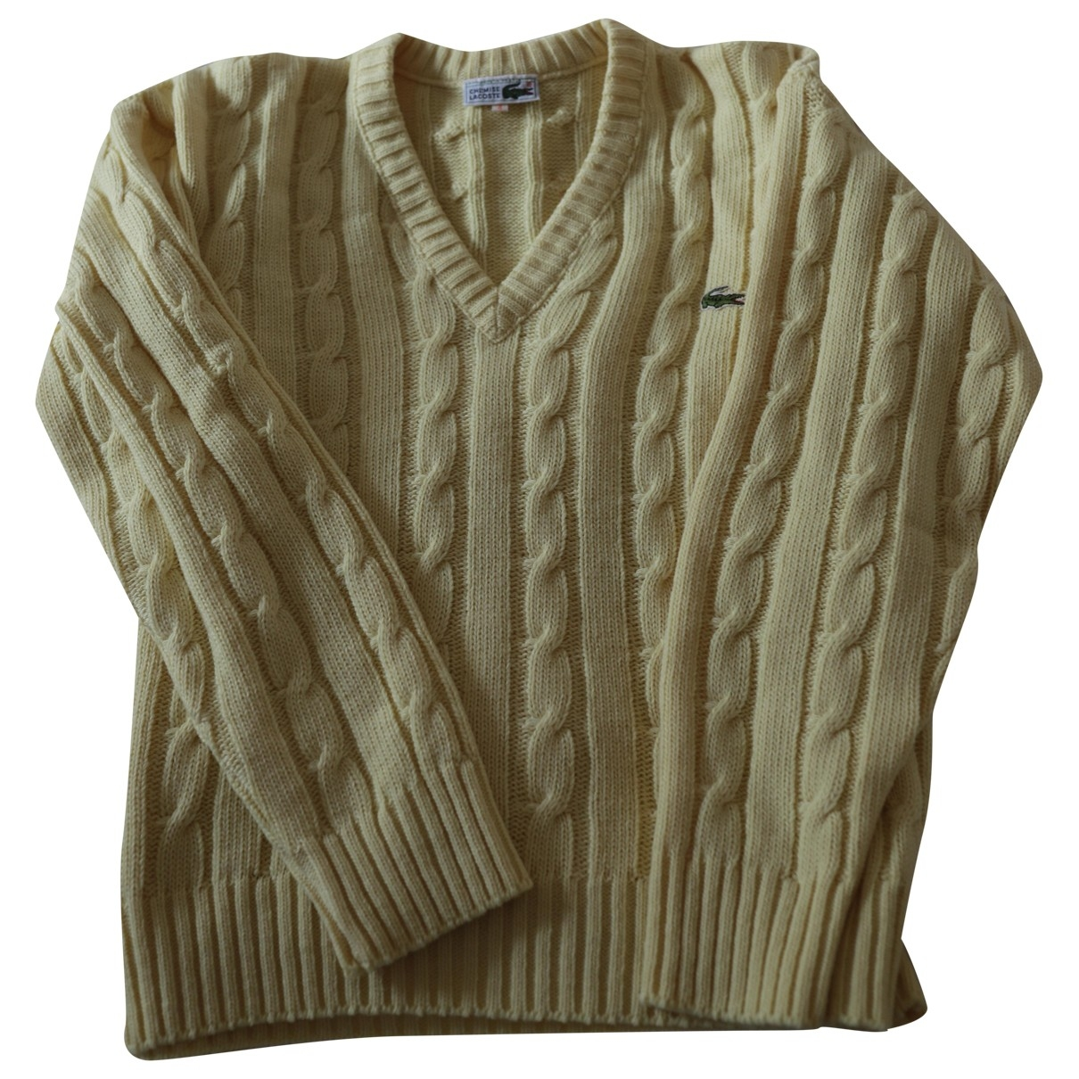 Lacoste \N Pullover in  Gelb Wolle