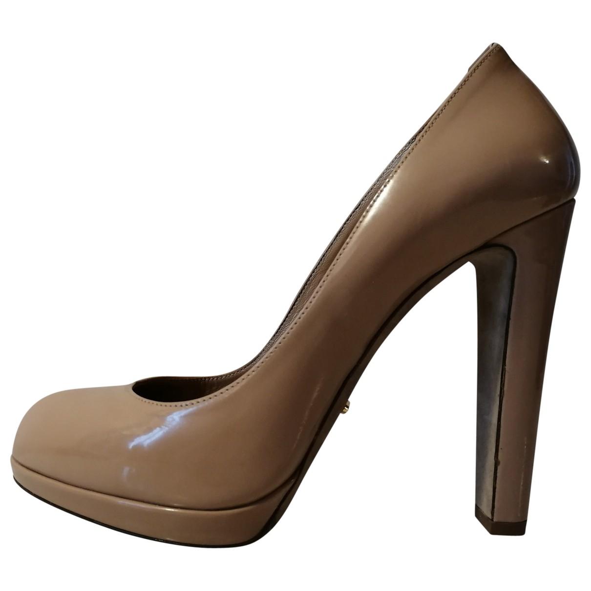Sergio Rossi \N Beige Patent leather Heels for Women 38.5 EU