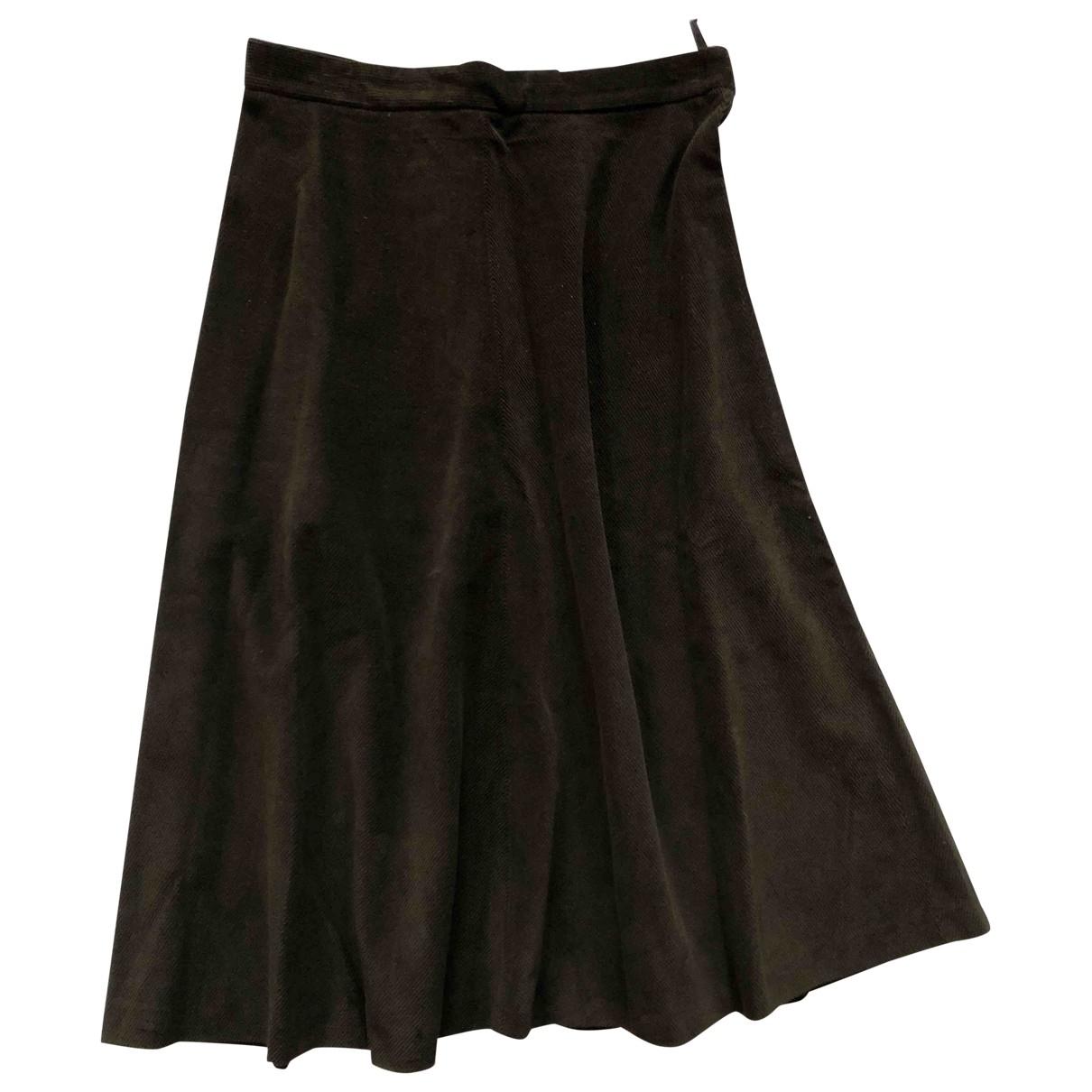 Miu Miu \N Brown Cotton skirt for Women 44 IT