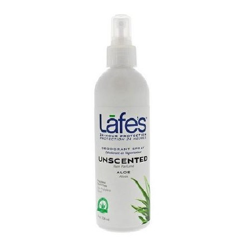 Organic Spray with Aloe Vera 8 Oz by Lafes Natural Body Care