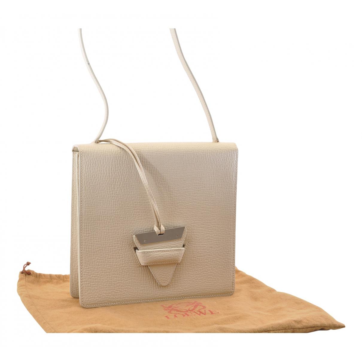 Loewe Barcelona White Leather handbag for Women N