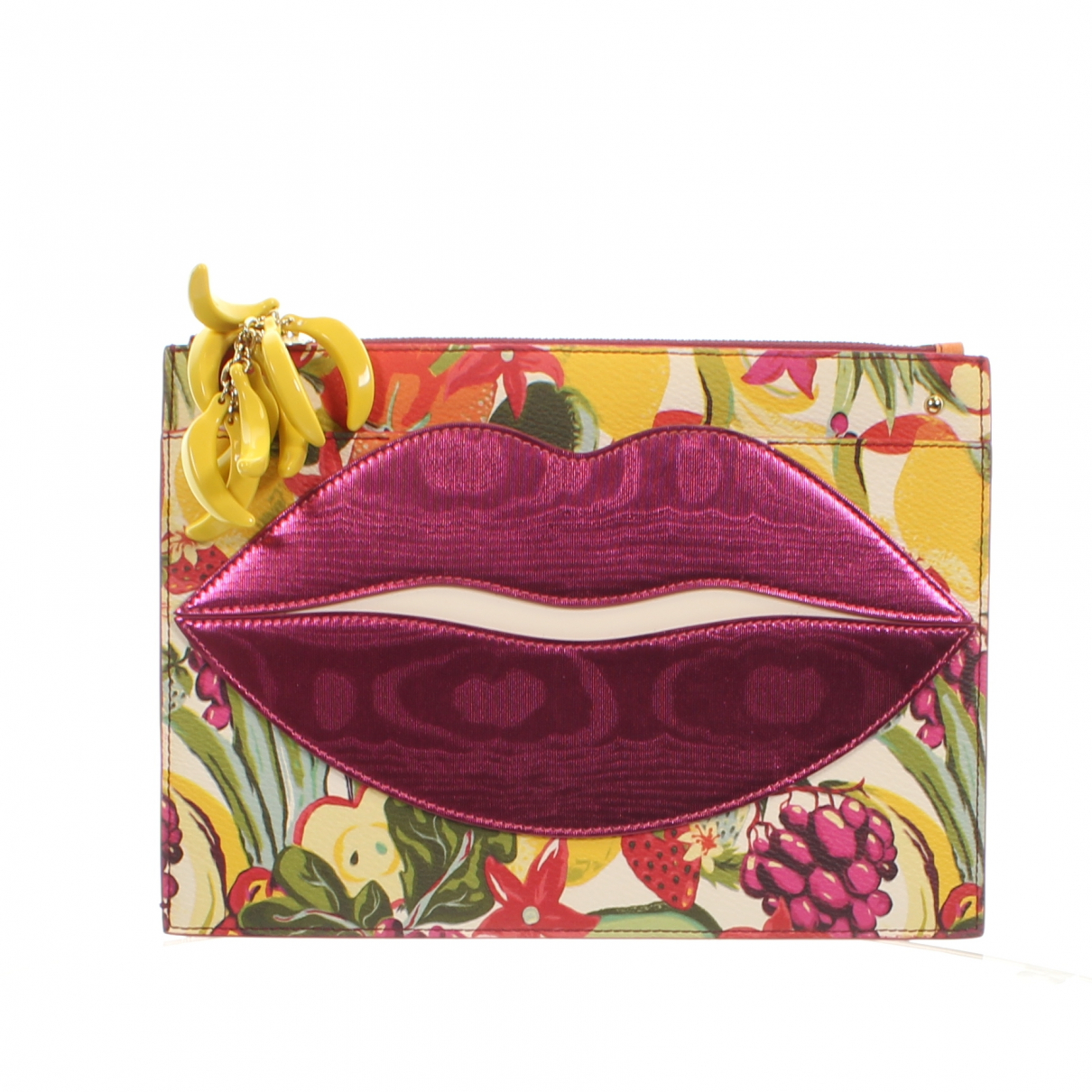 Charlotte Olympia - Portefeuille   pour femme en cuir - rose