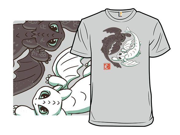 Yin Yang Dragons T Shirt