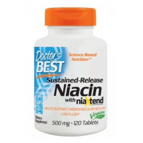 Sustained-Release Niacin with Niaxtend 120 Tabs by Doctors Best