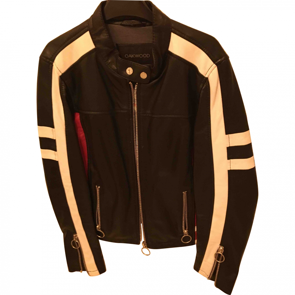 Oakwood \N Multicolour Leather Leather jacket for Women 38 FR