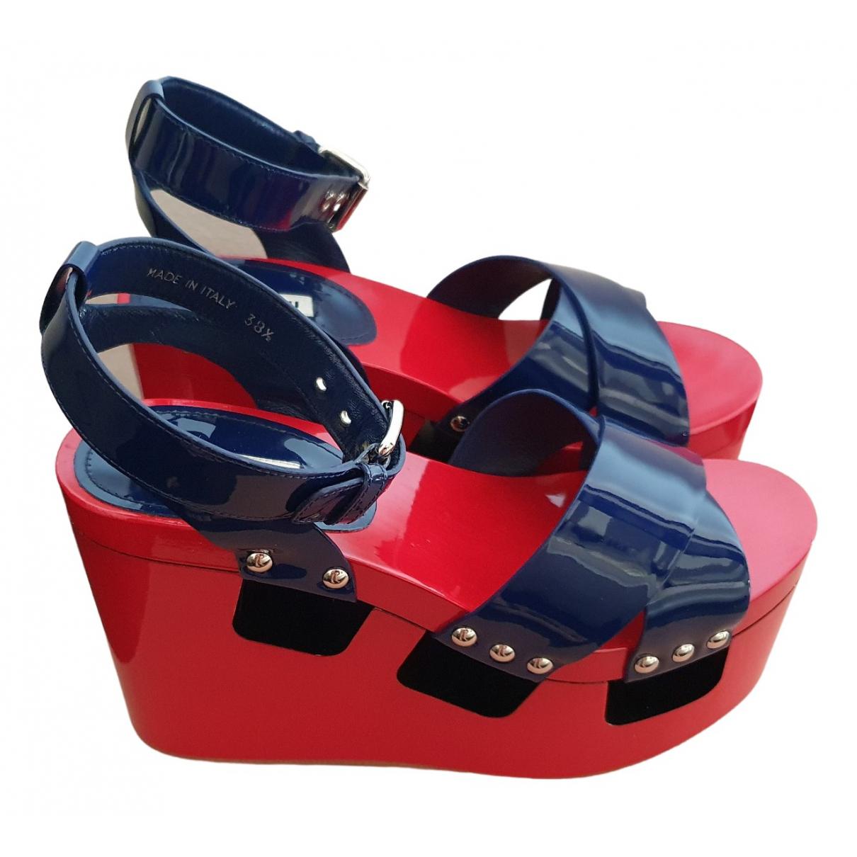 Miu Miu \N Multicolour Patent leather Sandals for Women 38.5 EU