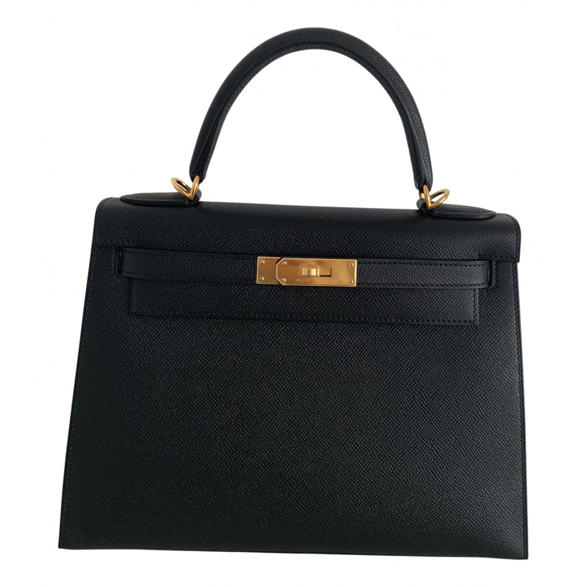 Hermès Kelly 28 Black Leather handbag for Women N