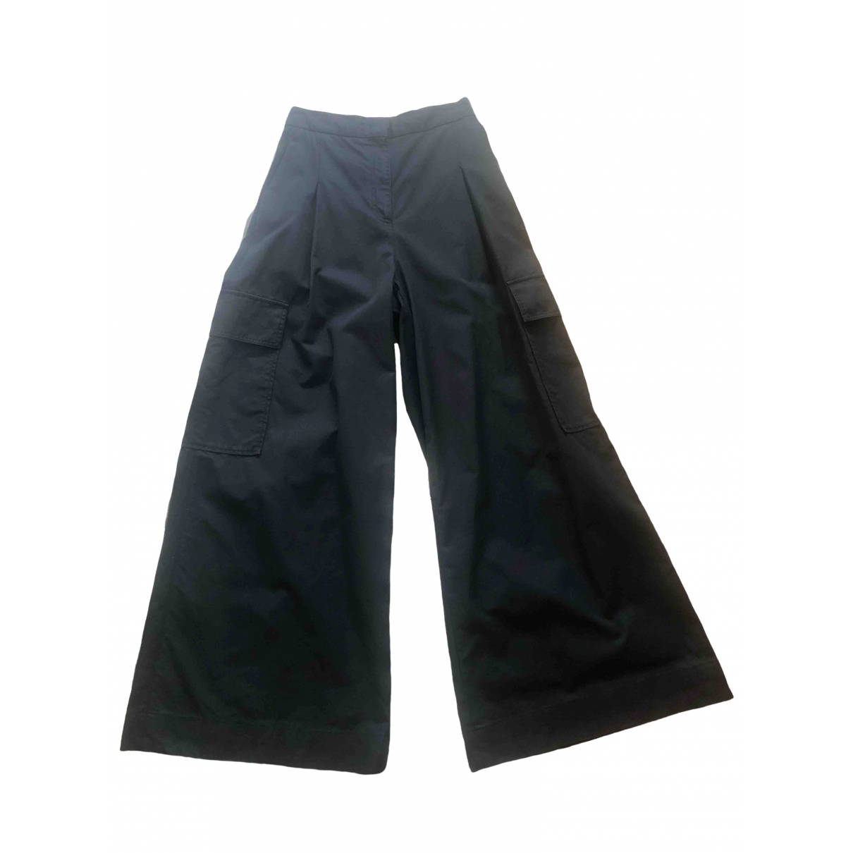 Msgm \N Black Cotton Trousers for Women 42 IT