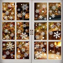 Pegatina de ventana con estampado de navidad