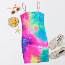 Girls Tie Dye Bodycon Dress