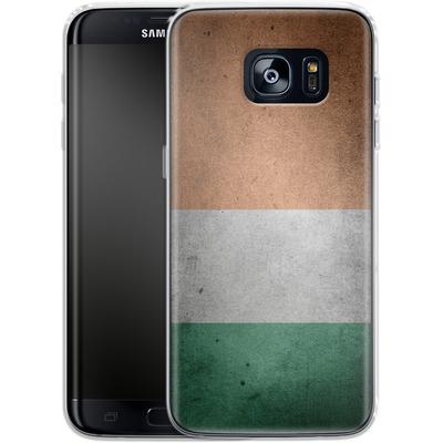 Samsung Galaxy S7 Edge Silikon Handyhuelle - Rustic Irish Flag von caseable Designs