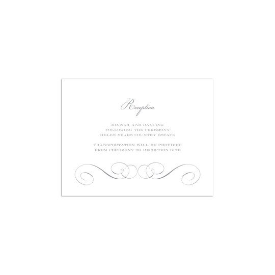 20 Pack of Martha Stewart Personalized Scroll Flat Wedding All Purpose Card in Charcoal   4.25
