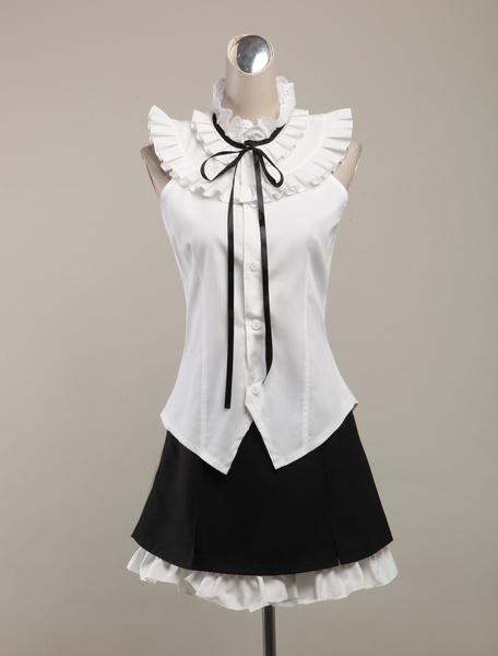 Milanoo My Little Sister Can't Be This Cute Oremo Gokou Ruri Kuroneko Cosplay Costume White Summer Lolita Dress Halloween