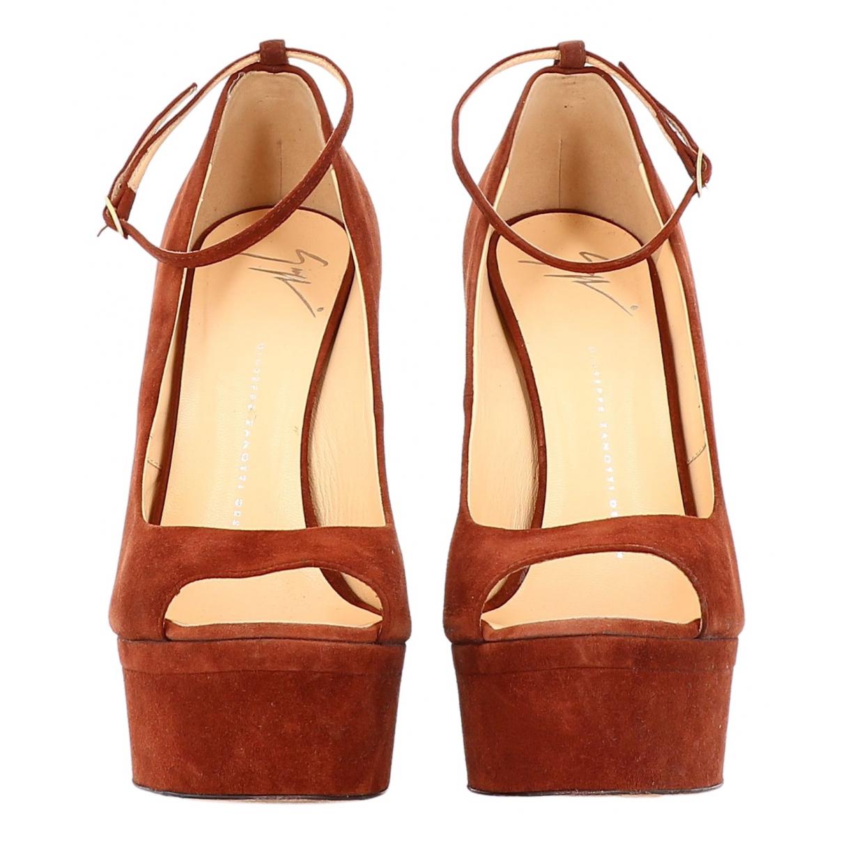 Giuseppe Zanotti \N Brown Suede Sandals for Women 38.5 EU