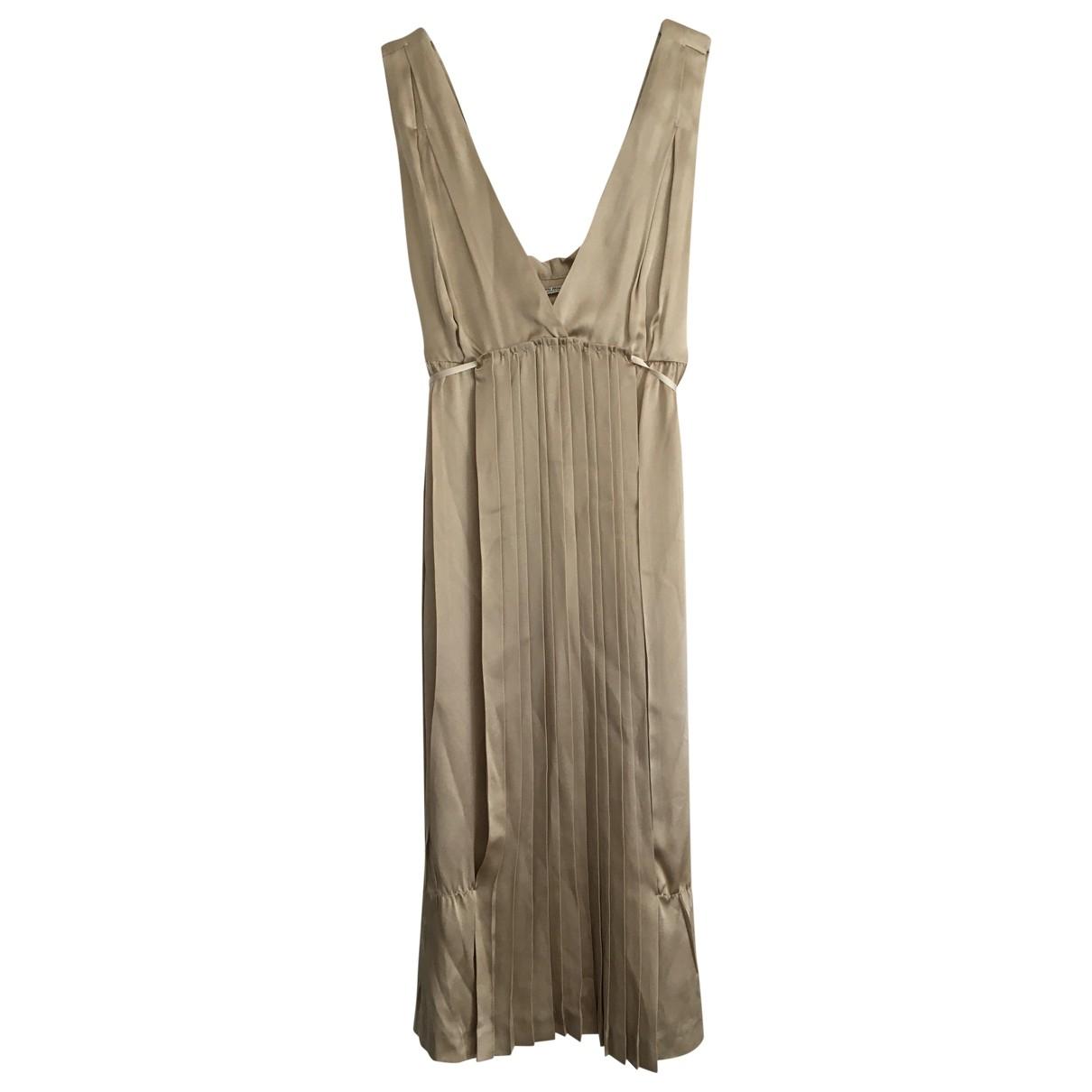 Miu Miu - Robe   pour femme en soie - dore