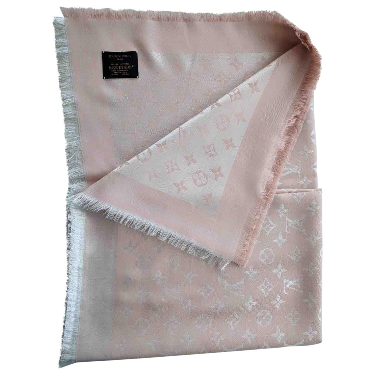 Louis Vuitton - Foulard Chale Monogram shine pour femme en soie - rose