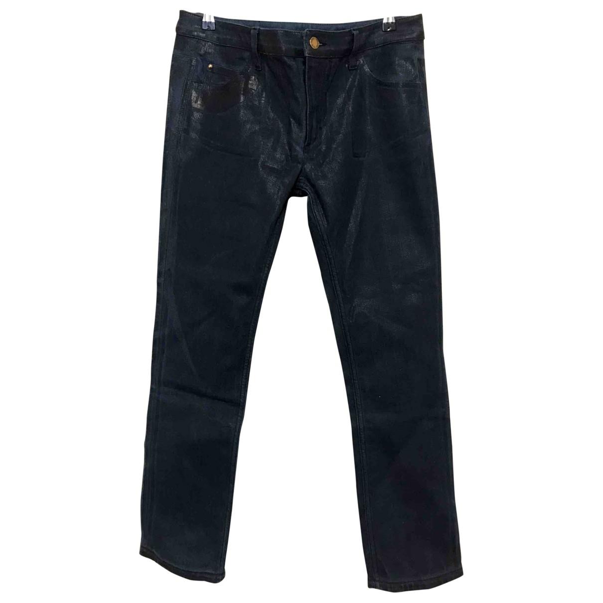 Louis Vuitton \N Blue Cotton - elasthane Jeans for Women 42 FR