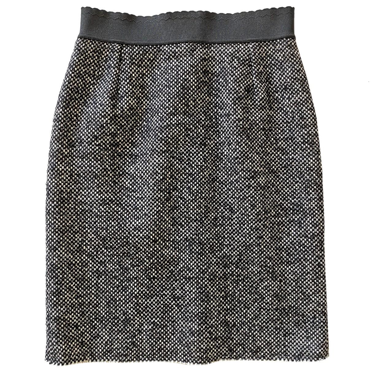 Dolce & Gabbana - Jupe   pour femme en coton - gris