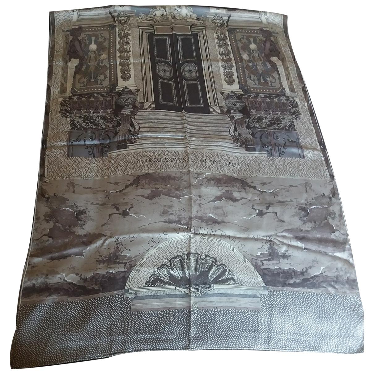 Louis Vuitton \N Grey Silk scarf for Women \N