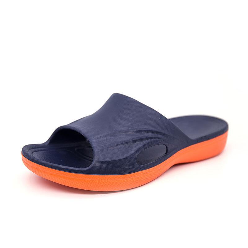 Men Color Blocking EVA Beach Light Weight Slip On Casual Slippers