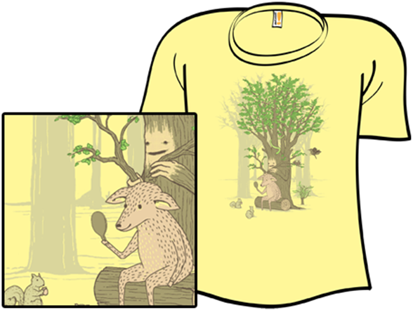 How The Deer Gets His Antlers T Shirt
