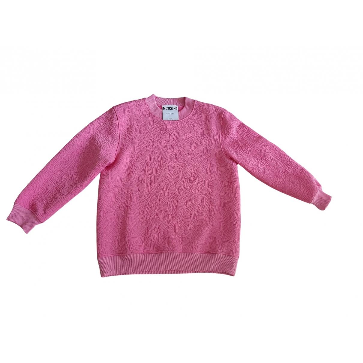 Moschino \N Pink Cotton Knitwear for Women 40 IT
