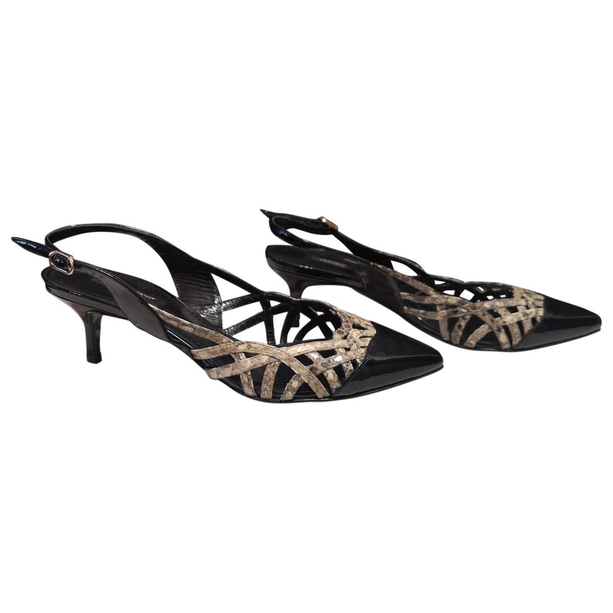 Dolce & Gabbana \N Black Leather Heels for Women 36 EU