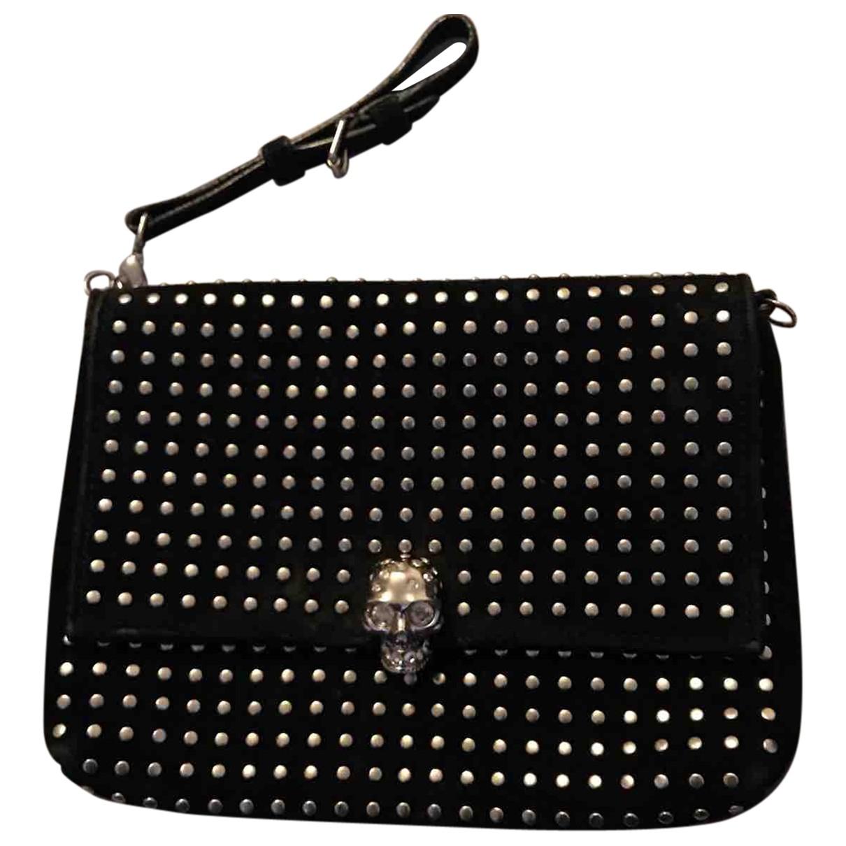 Alexander Mcqueen Skull Black Suede Clutch bag for Women \N