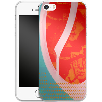 Apple iPhone 5 Silikon Handyhuelle - Saturated Wall von Brent Williams