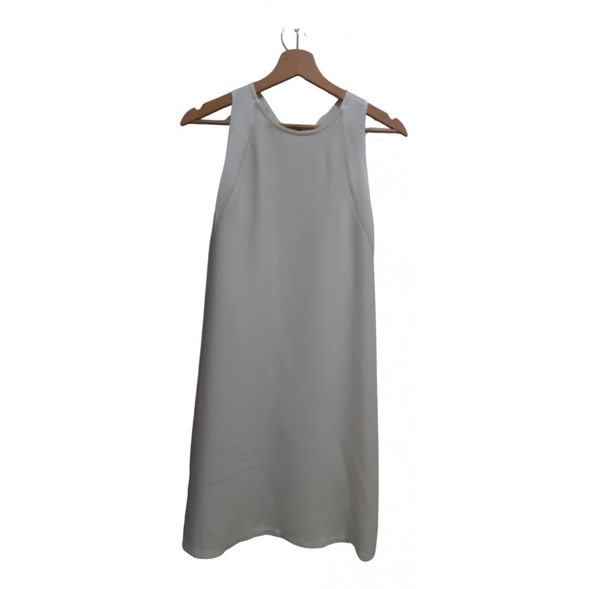 J Brand \N Kleid in  Weiss Polyester
