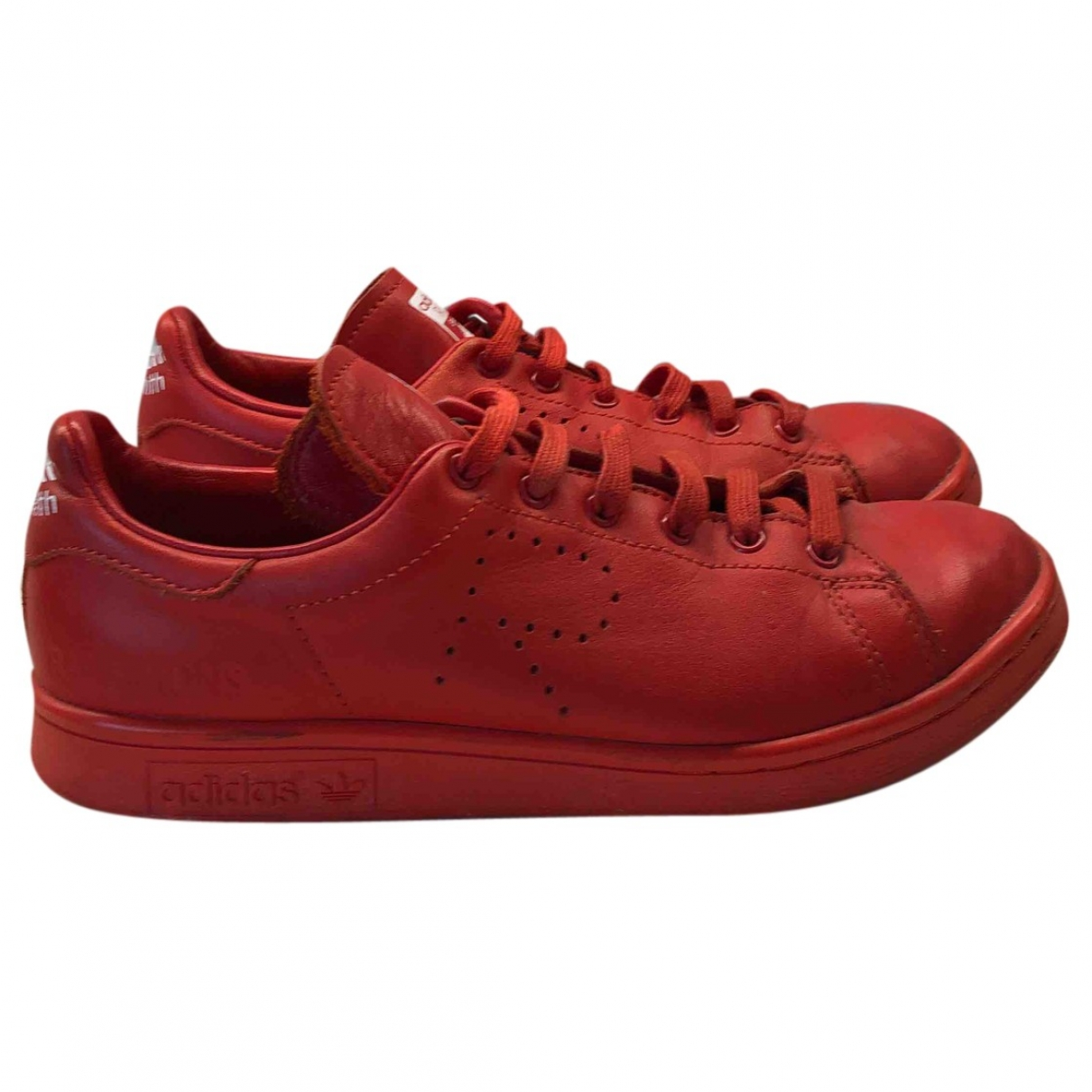 Adidas X Raf Simons Stan Smith Red Leather Trainers for Women 36.5 EU