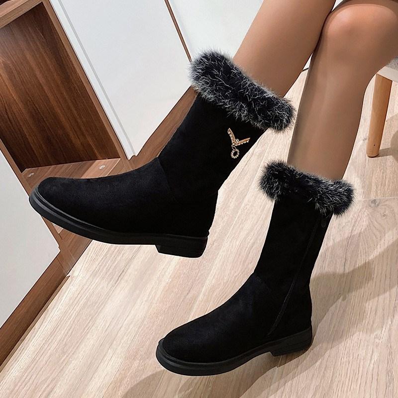 Ericdress Block Heel Side Zipper Round Toe Professional Boots