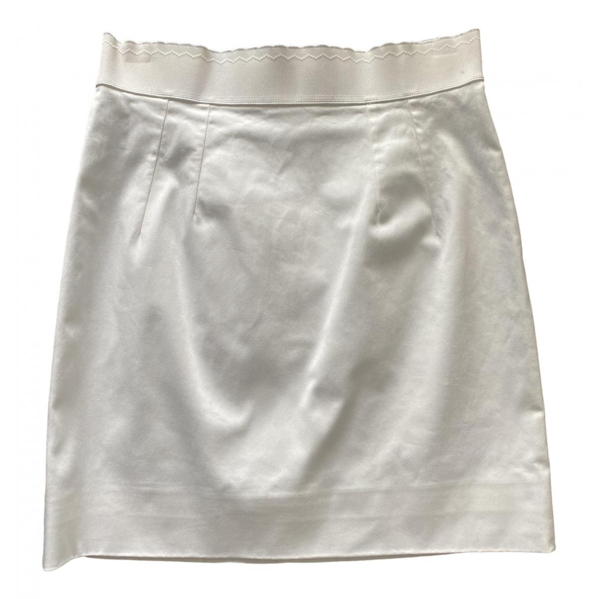 Dolce & Gabbana \N White Cotton - elasthane skirt for Women 40 IT