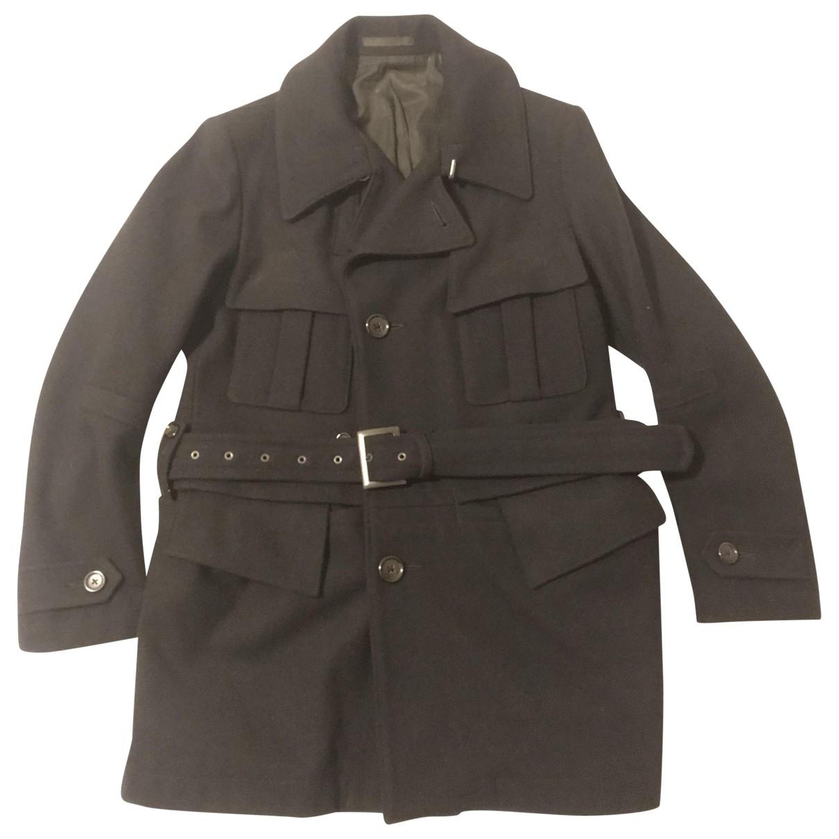 Yohji Yamamoto \N Blue Wool coat  for Men 48 IT